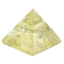 Citrine Crystal Pyramid Egyptian Clear Stone Home Desk Decor Healing Gifts 15CM