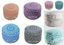 Footstool Mandala Design Cotton Textile Home Decor Pouf Beautiful Ottoman Cover