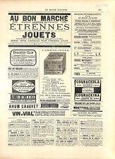Réclame Publicité Au bon Marché Paris /Catalogue Hetzel Jules Verne GRAVURE 1896