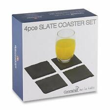 Grunwerg 4pce Slate Coaster Set (10x10cm)
