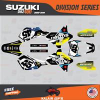 Suzuki DRZ400SM Graphics Kit DIVISION Series DRZ400 SM S E drz 400 yellow blue 9