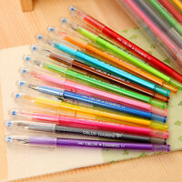 0,5 mm Rollerball-Gelschreiber Fine Point 12-Pack Verschiedene Farben!YB