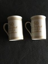 GOLDEN WEDDING ANNIVERSARY MUGS AMORE BY JULIENA