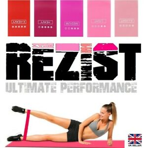 Sports Fitness Resistance Bands Loop Latex Exercise Bands Booty Gym Yoga Set (5)