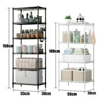 AUGIENB 4 / 5-Tier Shelf Shelving Storage Unit, Metal Organizer Wire Rack USA