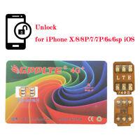 10Pc GPPLTE 4G+ Turbo SIM Card Unlock for iPhone X 8 7 6S Plus Unlocking LTE IOS