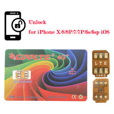 10Pc GPPLTE 4G+ Turbo SIM Card Unlock for iPhone X 8 7 6S Plus Unlocking LTE IOS