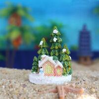Xmas theme Christmas Tree Home Micro Fairy Figurines Miniatures Garden Decor GV