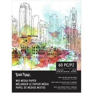Brea Reese Mixed Media Paper Pad 9 inch X12 inch 60 Sheets