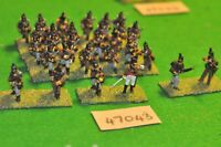 28mm napoleonic / portuguese - light infantry 36 figs - inf (47043)