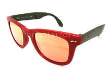 Authentic RAY-BAN Folding Wayfarer Matte Red Sunglasses RB 4105 - 6050Z2 *NEW*