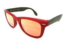 Authentic RAY-BAN Folding Wayfarer Matte Red Sunglasses RB 4105 - 6050Z2 *NEW*