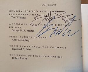 Legends edited by Robert Silverberg-SIGNED by Tad Williams & George RR Martin