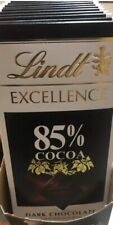 LOT OF 12 Lindt Excellence Bar 85% Cocoa Dark Chocolate 3.5 Ounce Each  12/31/20