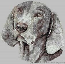 Large Embroidered Zippered Tote - Weimaraner DLE3849