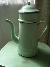 Vintage/Retro Enamel Coffee Pot with Strainer