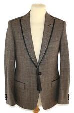 D&G DOLCE & GABBANA brown tweed wool cashmere jacket blazer IT 48 UK 38 M