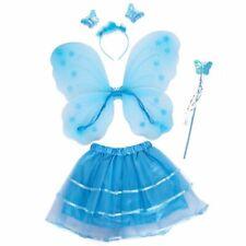 Girls Rosa Glitter Fata Natale Ali d/'angelo e un luccichio Bacchetta Costume Set