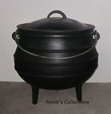 Cast Iron Potjie Pot Sz 4 Rendezvous Survival Gypsy Kettle Cauldron