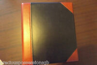 RED AND BLACK STAMP ALBUM HISTORY OF WWII 4 RING NO PAGES EXCELLENT CONDITION