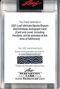 2021 Leaf Ultimate Sports - Bryson DeChambeau Auto Card - redemption card