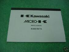 Kawasaki KX80 R4 RT 1995 Genuine Parts Book / Catalog NEW KX80R4 KX80RT KX 80 95
