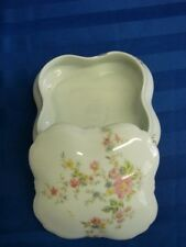 "J. Seignolles Limoges France Floral Trinket Box 4"" X 4"" X 2 1/4"""