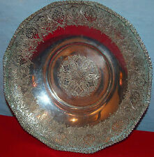 PERSIAN 84 SILVER OLD PEDESTAL  BOWL CHASED  BY:PARVARESH -392.3  GR-12.6 TOZ