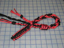 paracord 550 decorative whip black widow colors black and red wall hanger cord