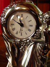 Sterling Silver Solid Clock Vintage Collectible Statue Ottaviani Large 20cm