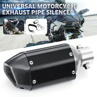 38-51mm Carbon Fiber Motorcycle Short Exhaust Pipe Muffler Silencer Removable