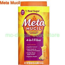 55 oz Metamucil 4-in-1 MultiHealth Fiber Supplement Powder Orange Smooth EXP9/23