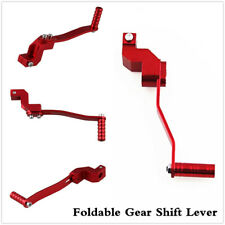 Motorcycle Red Aluminum Folding Shifter Gear Shift Lever Accessories Universal