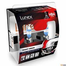 2x HB4 Lunex NIGHT VISION 3600K 55W 12V Lampadine Faro Alogene P22d Hard Case