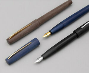KACO EDGE Black/ Blue/ Brown Fountain Pen, Schmidt EF/F/M Nib Gift Pen Converter