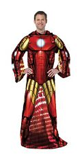 Marvel Avengers Iron Man Full Body Comfy Snuggie Blanket