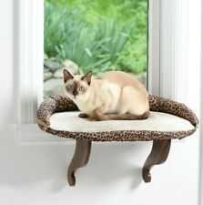 Cat Bed Window Perch Seat Mounted Shelf with Soft Cushion & Bolster Kitten Large