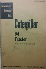 Caterpillar Diesel D4 Tractor Service Manual 172p 4G 7J 2T 5T 6U 7U Crawler CAT