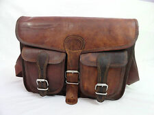 "15x11"" Real Brown Leather Satchel Macbook Pro / Air Crossbody Messenger Bag"