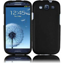 For Samsung Galaxy S III 3 Rubberized HARD Case Snap Phone Cover Rubber Black