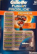 Gillette FUSION PROGLIDE Power 14 Cartridges Men's Shaver 14 Blades Refill AUS