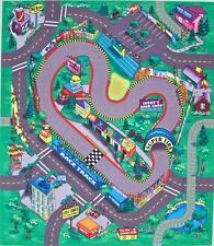 Race Track Play Mat Kids Felt Floor Mats Themed Game Cars Motorbike Truck Racing