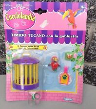 Kenner # Little Petshop Timido tucano #Nib Cucciolandia parrot and cage