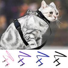 Pet Cat Harness Leash Belt Collar Outdoor Puppy Lead Strap Nylon Adjustable