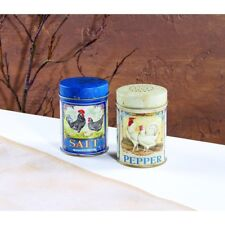 Country Farmhouse FRENCH ROOSTER Salt & Pepper Shaker Food Safe