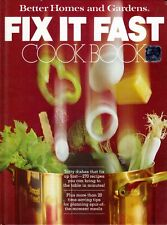 Better Homes and Gardens Fix It Fast Coo Cookbooks Hardcover Better Homes and Ga