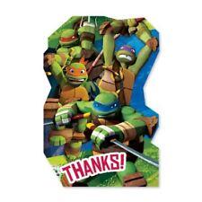 8 Teenage Mutant Ninja Turtles TMNT Party Thank You Thanks Cards plus Envelopes