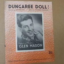 Chanson feuille dungaree doll! Glen Mason 1955