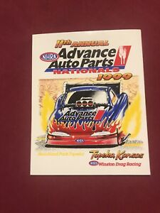 ADVANCE AUTO PARTS NATIONALS 1999 NHRA WINSTON vintage racing sticker decal