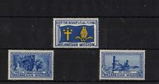 Cinderella Charity Stamps USA Melanesian Mission Set of 3